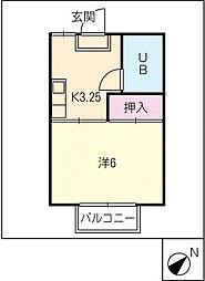 コスモスハウス B[2階]の間取り