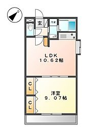 COZY APARTMENT YADA[2階]の間取り