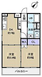 ファインクレスト八千代台[2階]の間取り