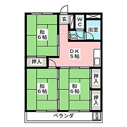 東仙台ガーデンハイツ[1階]の間取り