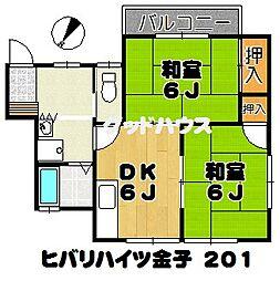 ヒバリハイツ金子[2階]の間取り