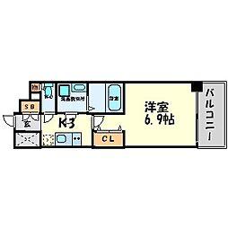 エス・キュート尼崎[5階]の間取り