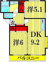 ブルーメンハウス[105号室]の間取り
