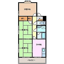 マンション八千代[2階]の間取り