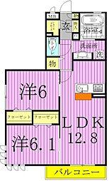 シトロンフレア3[3階]の間取り