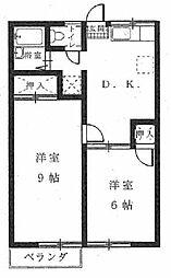 高野マンション[102号室]の間取り