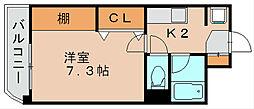 アクセス第3ビル博多東[7階]の間取り
