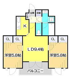 プラチナコートふじみ野[3階]の間取り