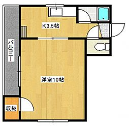 西田産業第5ビル[5階]の間取り