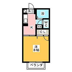 スカイコート佐脇原[2階]の間取り