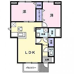 サンシャイン茨木1[1階]の間取り