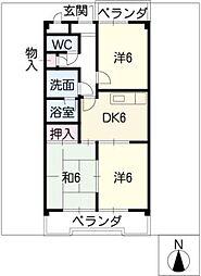 トウフジ滝ノ水D棟[3階]の間取り