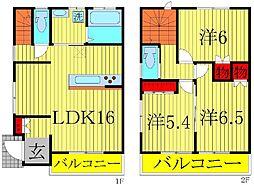 [テラスハウス] 千葉県流山市市野谷 の賃貸【/】の間取り
