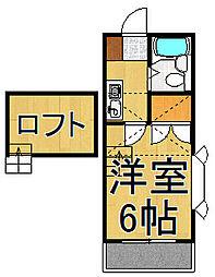アネックスローズ2[1階]の間取り