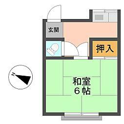山田荘[1号室]の間取り