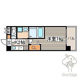 SWISS梅田東[6階]の間取り
