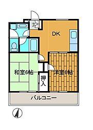 ベルメゾンT[2階]の間取り