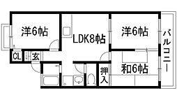 ソレーユ宝塚[2階]の間取り