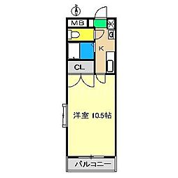 レジデンス・ユニ[3階]の間取り