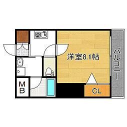 エムステージ矢田[3階]の間取り