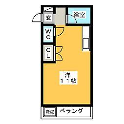 ジュエ狐ヶ崎マンション[3階]の間取り