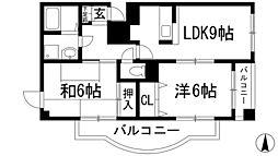 コートハウス神田[3階]の間取り