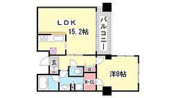 ワコーレ山本通グランツィオ[3階]の間取り