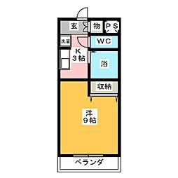 Every One 里山[2階]の間取り