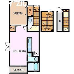 サンリットヒル[3階]の間取り