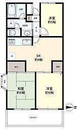 京王小金井マンション[3階]の間取り