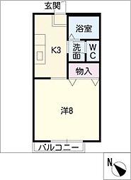 アベニューSHIROKO[1階]の間取り