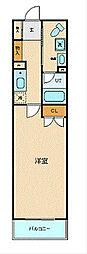 ブライトヒルレジデンス横浜 2階1Kの間取り