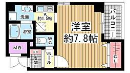 兵庫県神戸市長田区北町1丁目の賃貸マンションの間取り