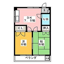 コーポハピネス[2階]の間取り