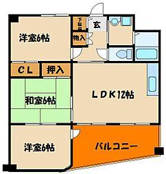 シティハイツIII[5階]の間取り