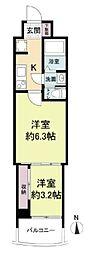 セレニテ梅田ルフレ 9階2Kの間取り
