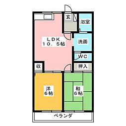 リバーサイドT・Y B棟[2階]の間取り