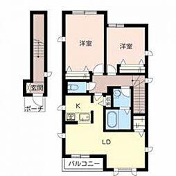 シャーメゾン 天神ノ森[2階]の間取り