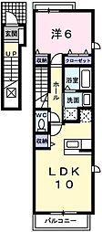 サンリット・ヴィラ神屋[2階]の間取り