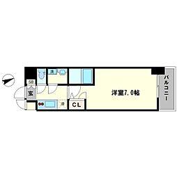 S-RESIDENCE大阪九条North 5階1Kの間取り