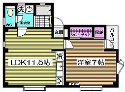 A House[3階]の間取り