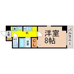 愛知県名古屋市千種区今池4丁目の賃貸マンションの間取り