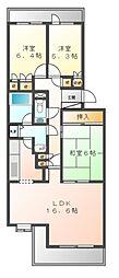 神奈川県川崎市宮前区鷺沼1丁目の賃貸マンションの間取り
