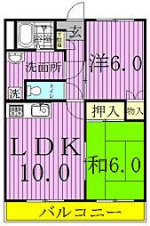 松戸コーポ[301号室]の間取り