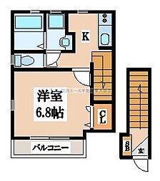 (仮称)長栄寺ハイツ[202号室]の間取り