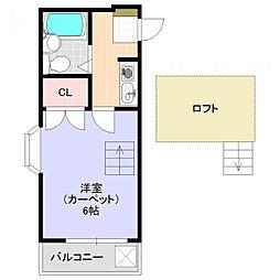春町アパート[2階]の間取り