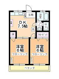 第2藤野マンション[305号室]の間取り
