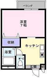 大阪府堺市中区八田北町の賃貸マンションの間取り