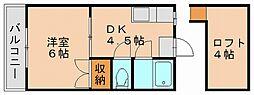 セピア小串[1階]の間取り