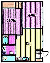 サンシャイン1(サンシャイン角田)[2階]の間取り